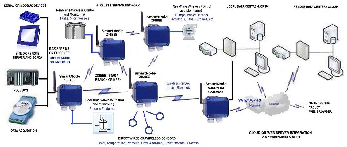 DAYTECH ACORN IoT SmartNode Network Topo