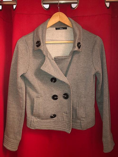 veste grise femme  taille 36   ref  g618