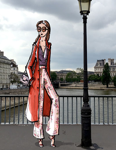 "Habile Buston © ""Caliente""- Illustration Mode - Le look du jour"
