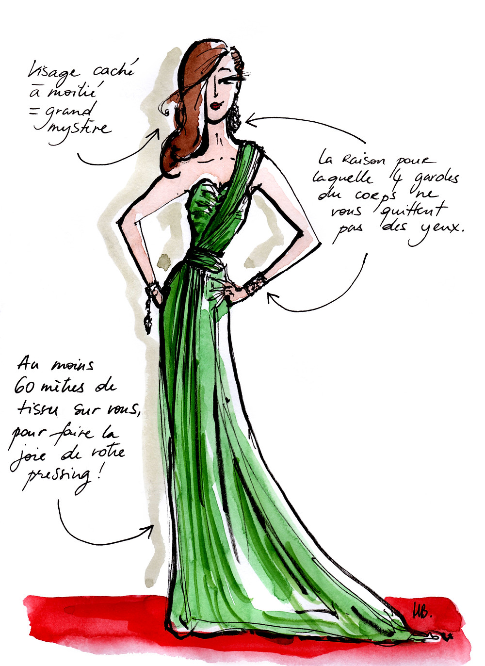 Tenue Festival de Cannes - La valeur sûre - Dessin/Illustration Habile Buston