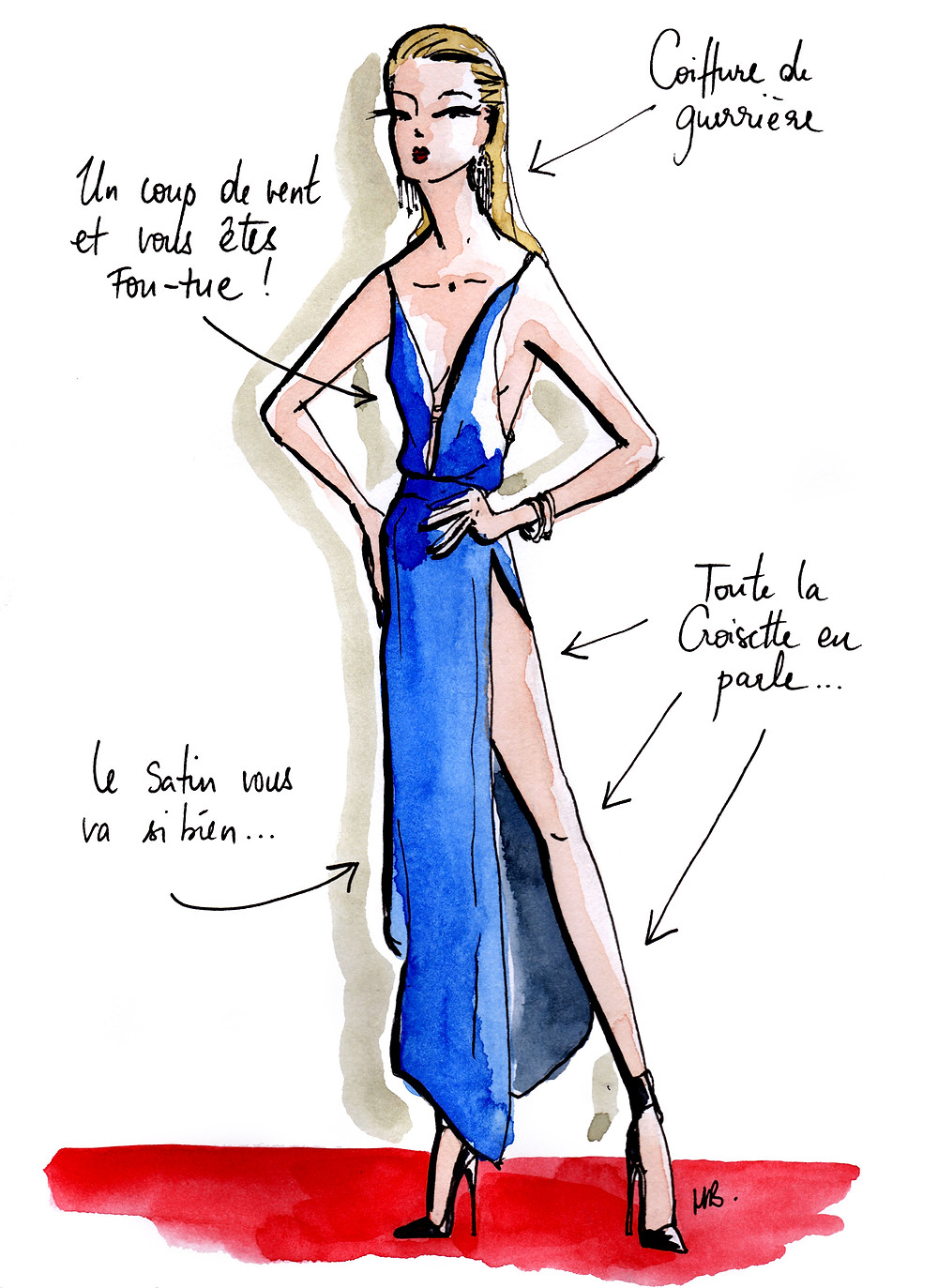 Tenue Festival de Cannes - L'ultra sexy - Dessin/Illustration Habile Buston