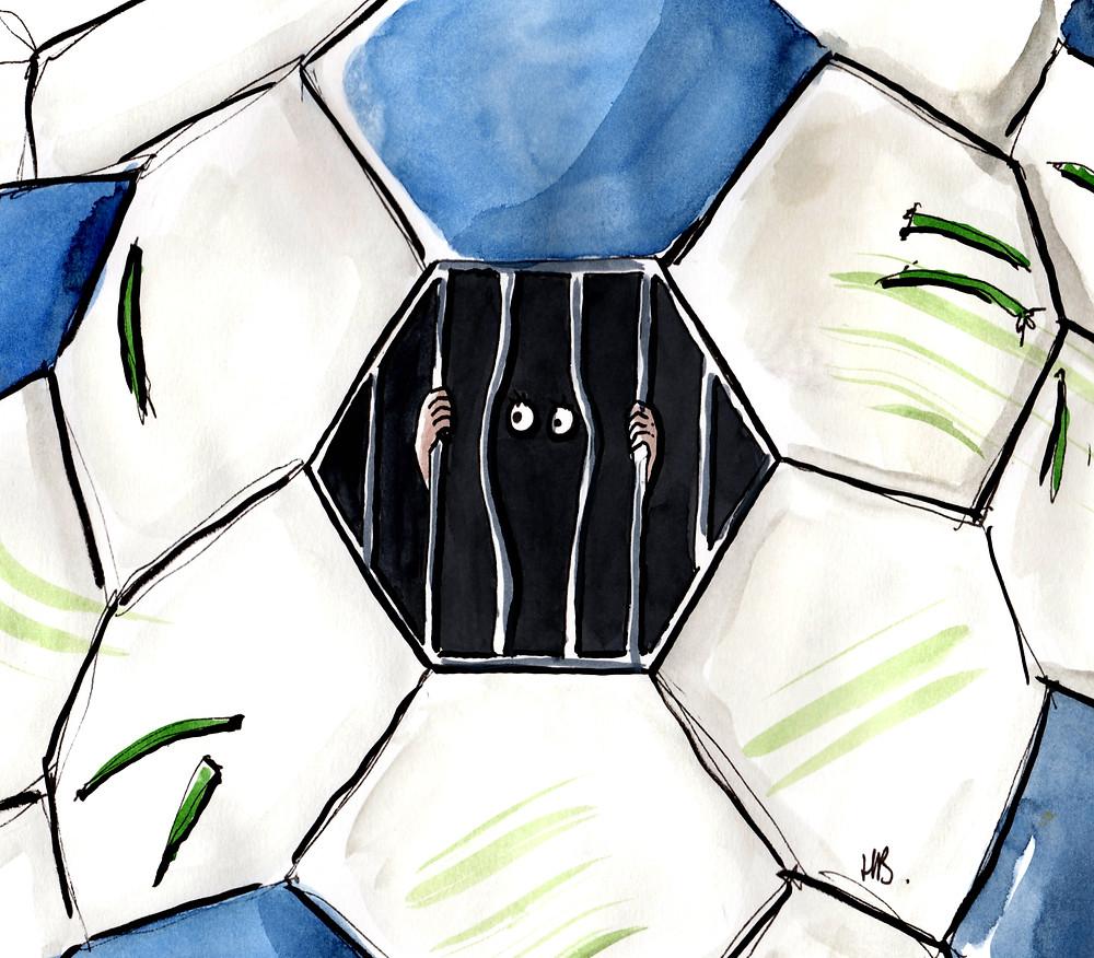 Illustration Habile Buston - Football - Euro - To do list pour survivre au foot - Lifestyle & Culture