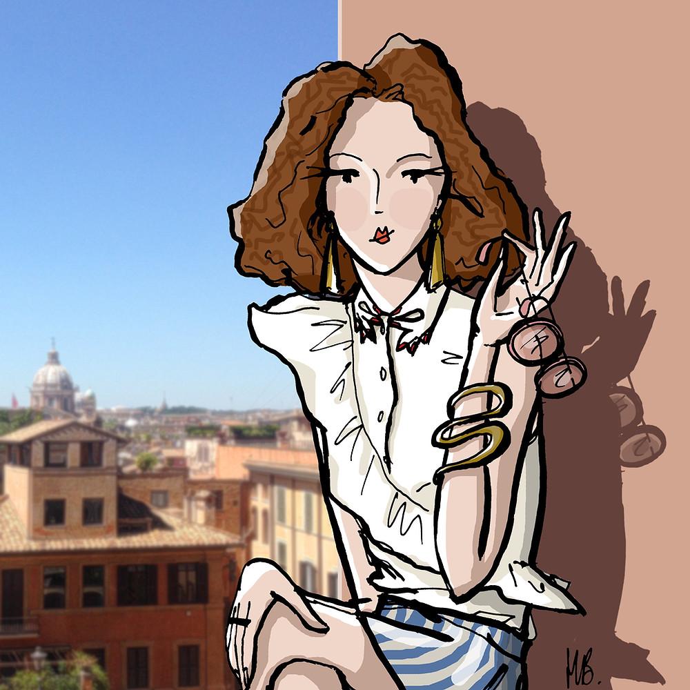 Le chemisier blanc est-il has-been ? - Illustration d'Habile Buston - Vivetta shirt - Mode - Rome