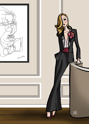 Habile Buston © Style Smoking - Illustration Mode - Le look du jour