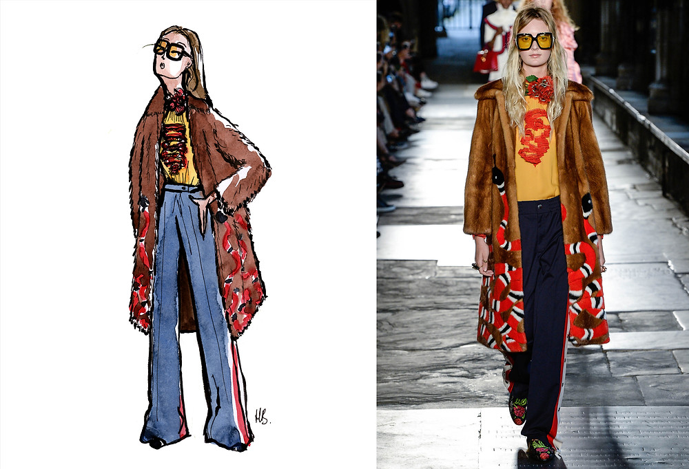 Look 71 - Gucci Cruise 2017 - Illustration Habile Buston - Mode et Style - Fashion