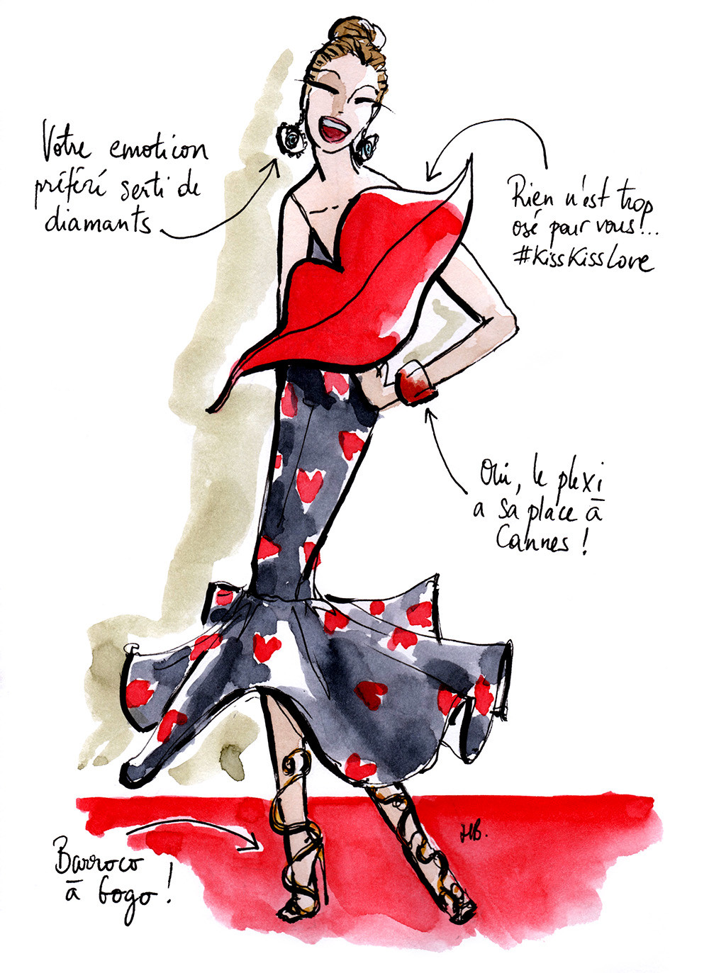 Tenue Festival de Cannes - L'excentrique - Dessin/Illustration Habile Buston