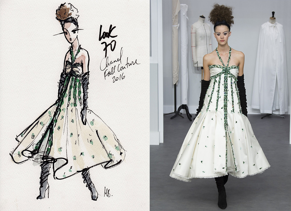 Chanel Haute-Couture Hiver 2016, Fall 2016, Look 70, Paris, Habile Buston Illustration