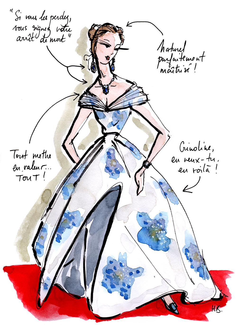 Tenue Festival de Cannes - La Princesse - Dessin/Illustration Habile Buston