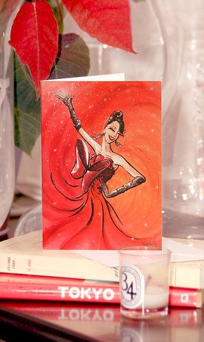 "Carte ""Lady Rouge"""