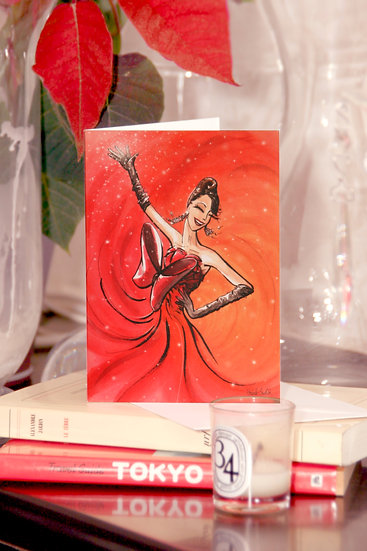 "Carte ""Lady Rouge"""
