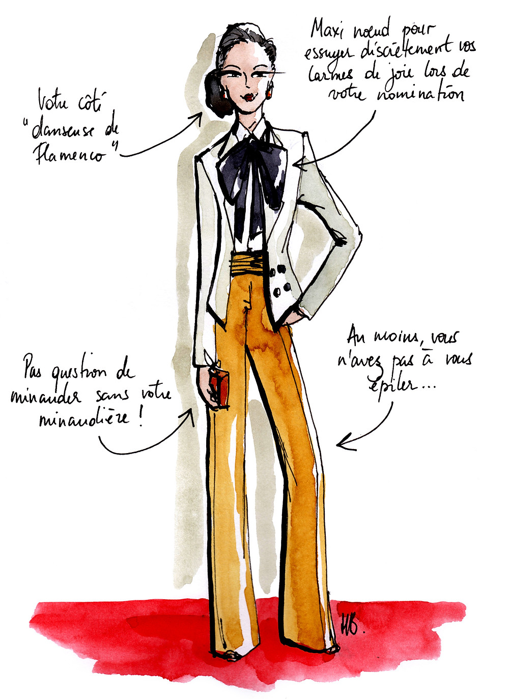 Tenue Festival de Cannes - La masculine - Dessin/Illustration Habile Buston
