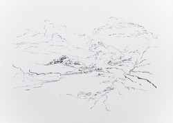 Metalandscape - 12 - Encre indigo sur pa