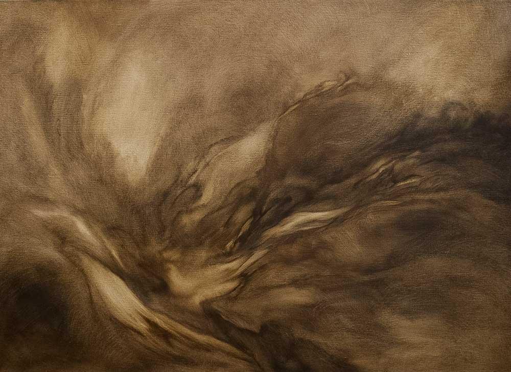 04 - Tsunami - Huile sur toile - 100 x 7