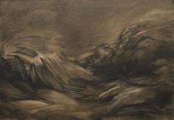03 - Tsunami - Huile sur toile - 116 x 8