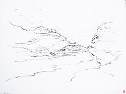 05 - Metalandscape - Encre indigo sur pa