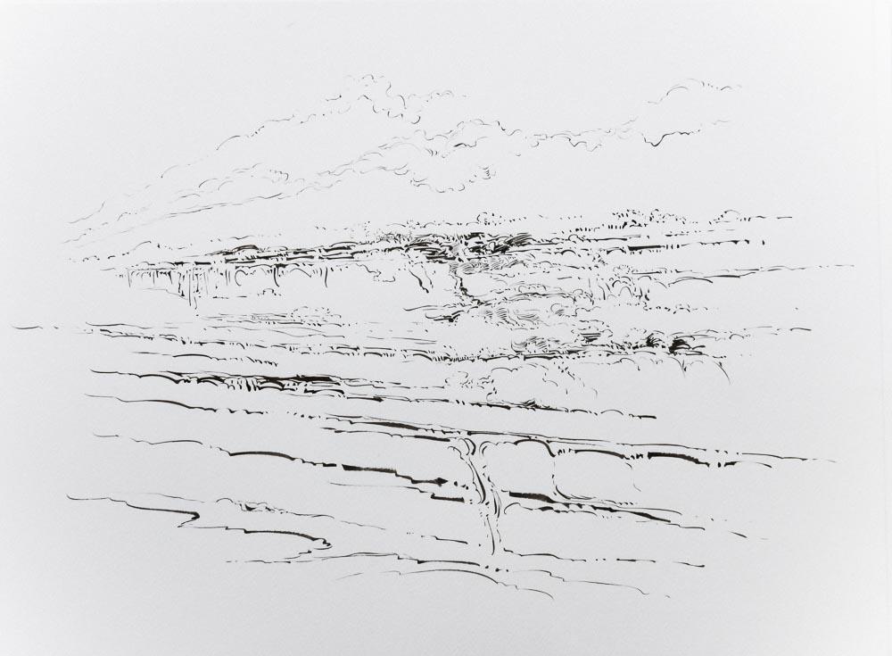 Metalandscape - 10 - Encre indigo sur pa