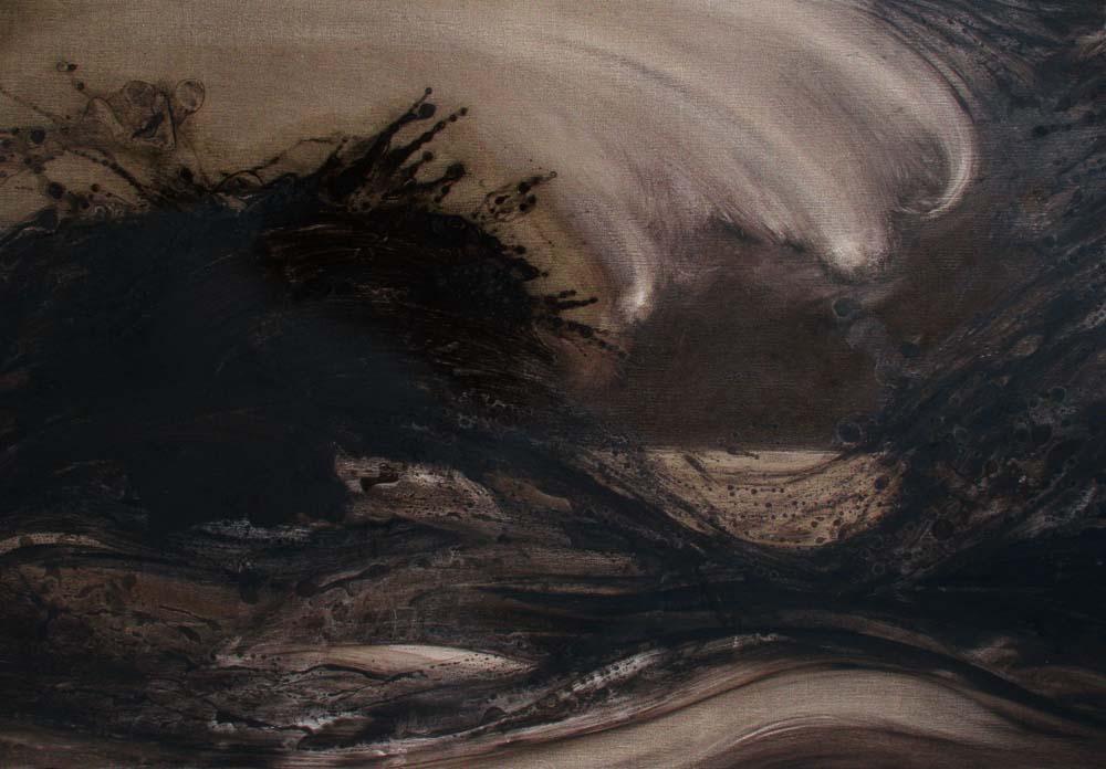 06 - Tsunami - Huile sur toile - 100 x 7