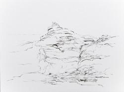 Metalandscape - 11 - Encre indigo sur pa