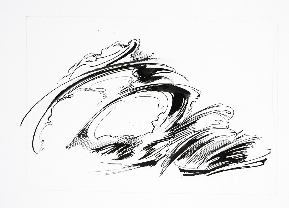 Chrysalide - 02 - Encre sur papier - 30