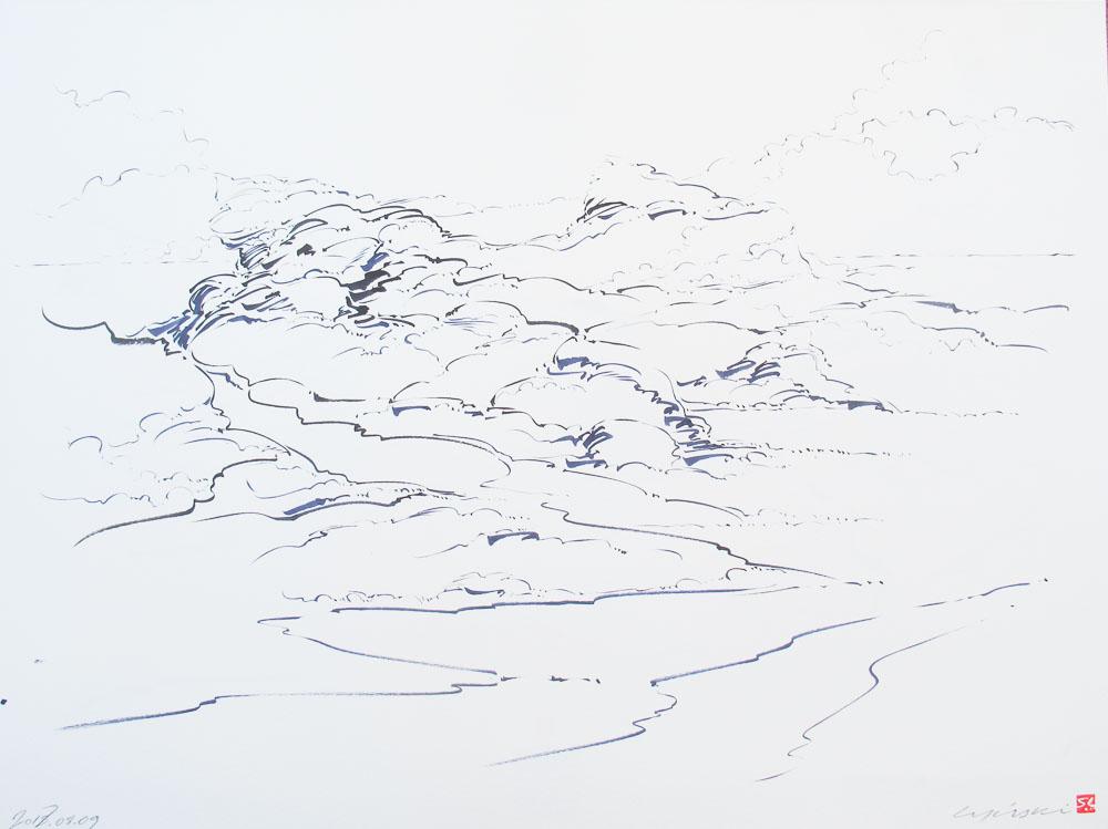 06 - Metalandscape - Encre indigo sur pa