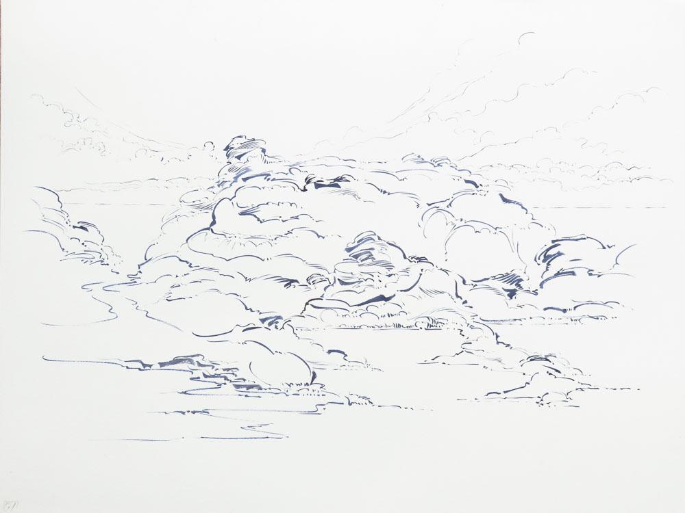 Metalandscape - 03 - Encre indigo sur pa