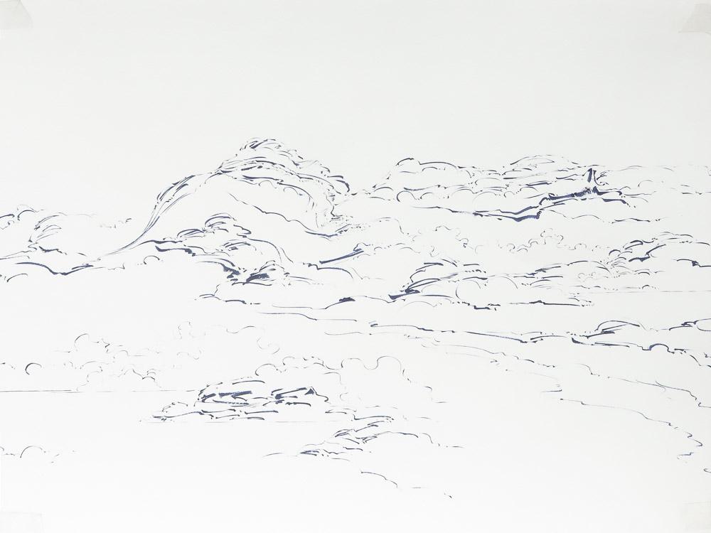 08 - Metalandscape - Encre indigo sur pa