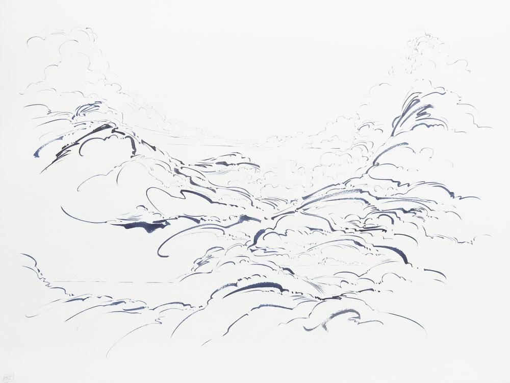 04 - Metalandscape - Encre indigo sur pa