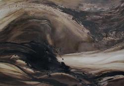 08 - Tsunami - Huile sur toile - 100 x 7