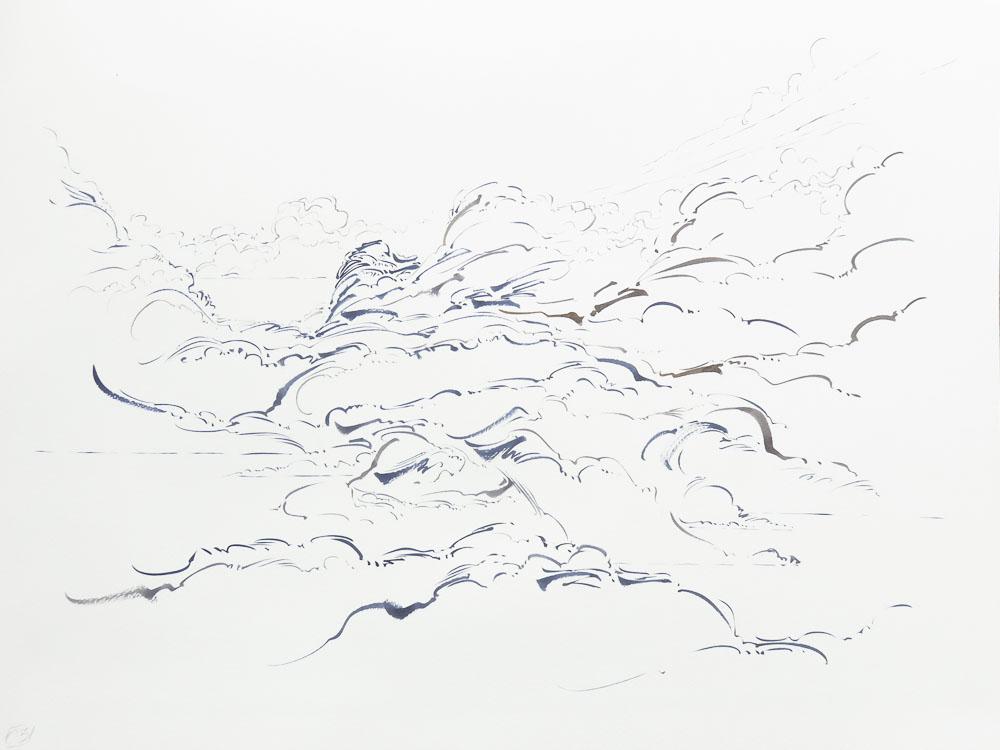 Metalandscape - 02 - Encre indigo sur pa