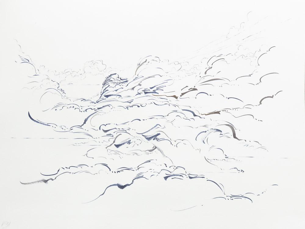 02 - Metalandscape - Encre indigo sur pa