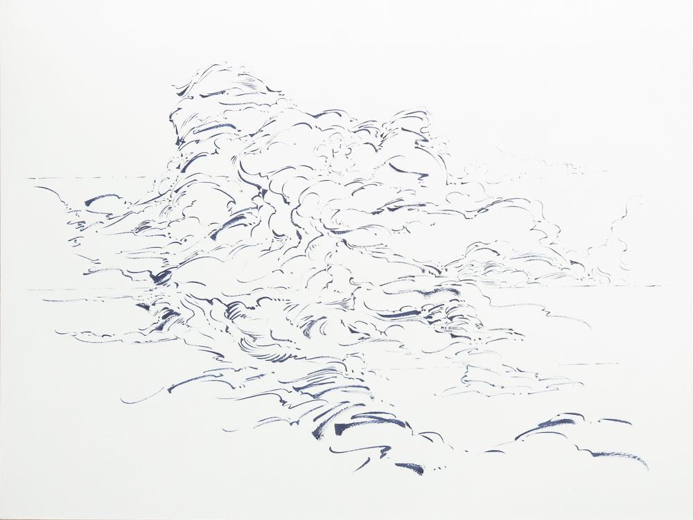 01 - Metalandscape - Encre indigo sur pa