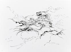 Metalandscape - 17 - Encre indigo sur pa
