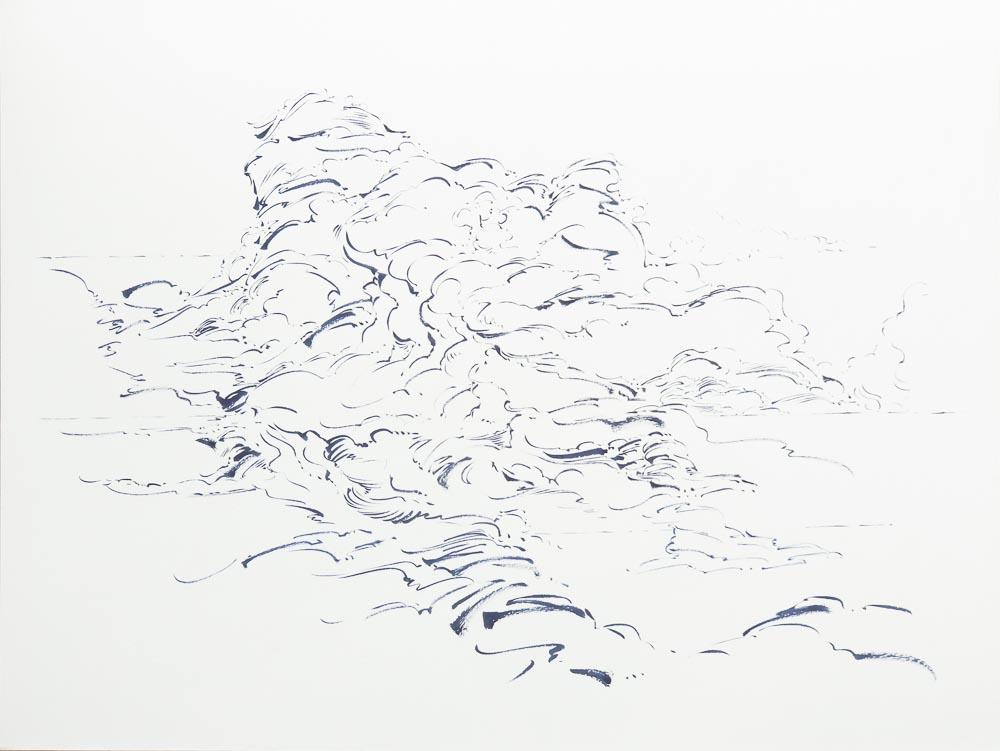 Metalandscape - 01 - Encre indigo sur pa