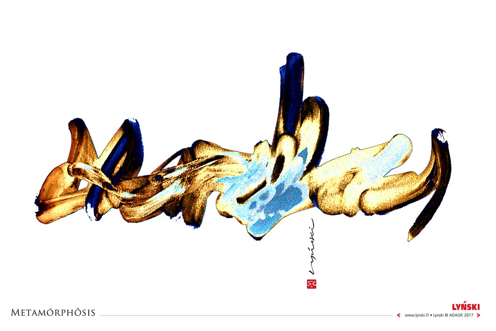 01 - Metamorphosis - Encre et peinture -