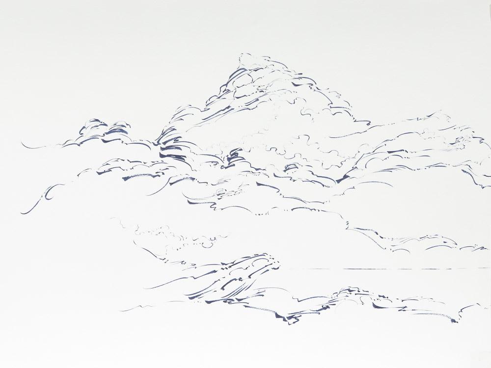 07 - Metalandscape - Encre indigo sur pa