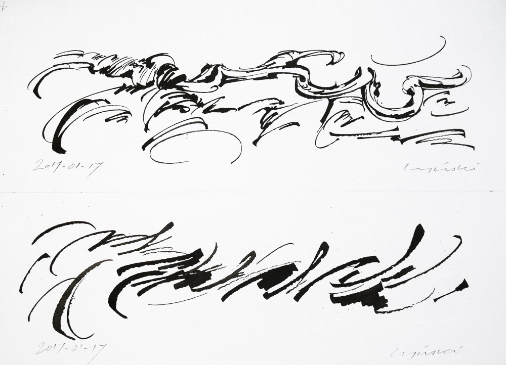 04 - Calimorphisme - Encre - 40 x 50 cm