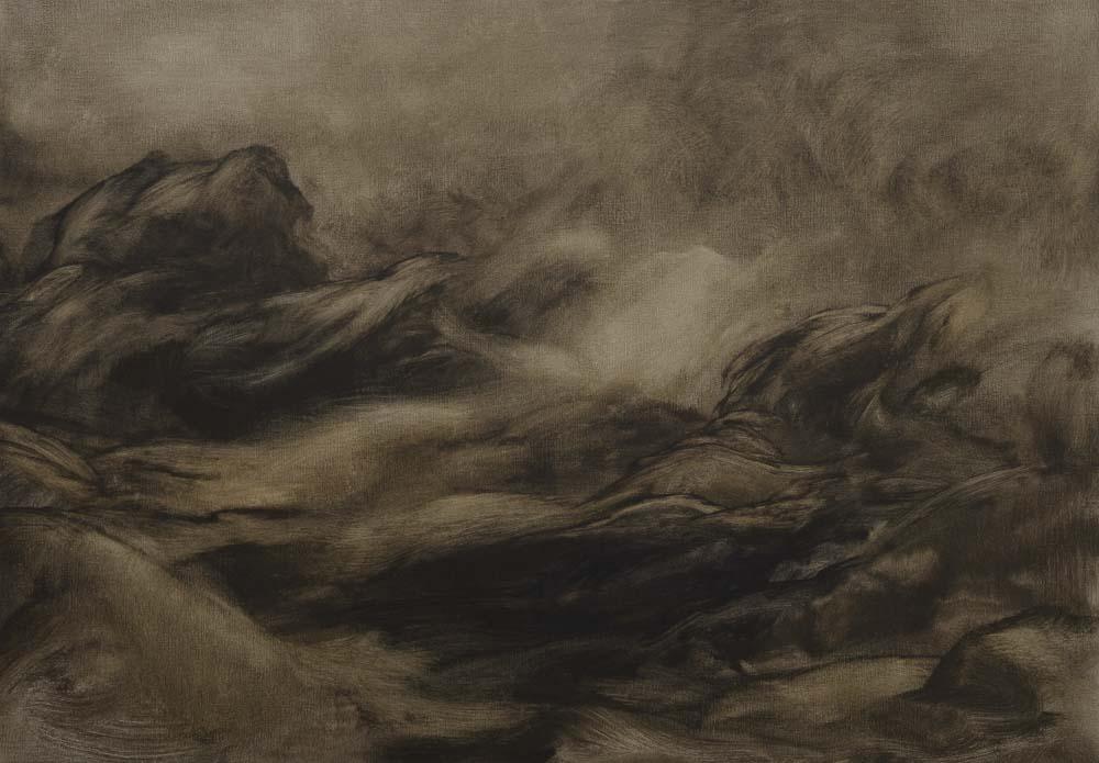 01 - Tsunami - Huile sur toile - 116 x 8