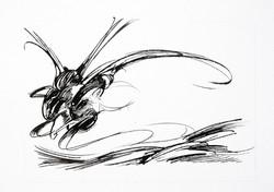 Chrysalide - 06 - Encre sur papier - 30