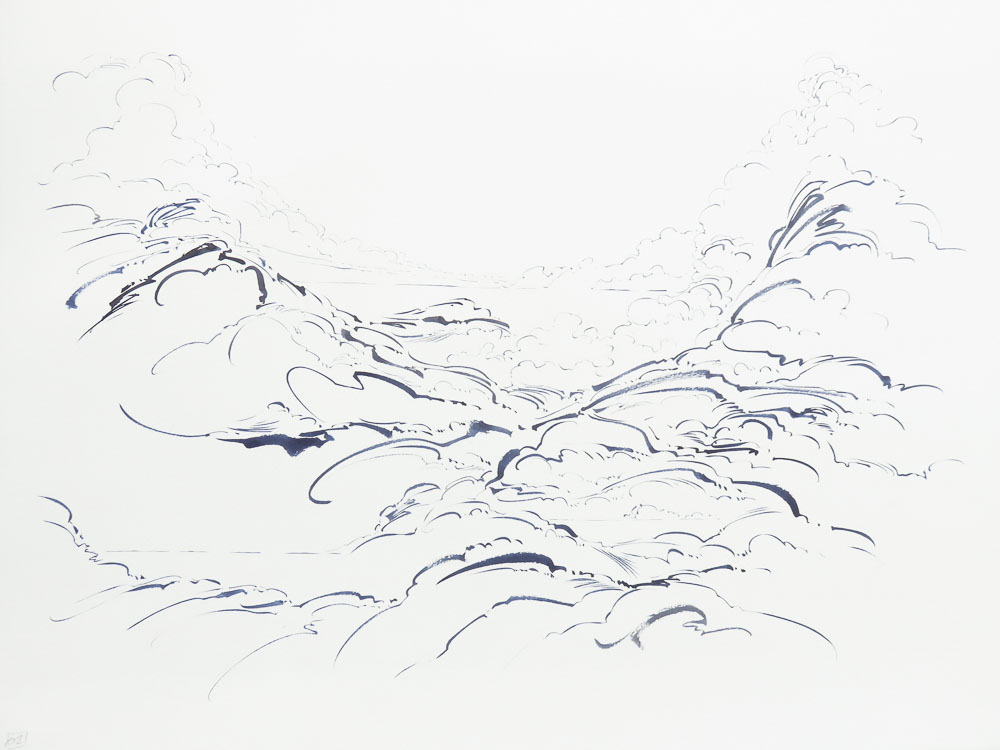 Metalandscape - 04 - Encre indigo sur pa