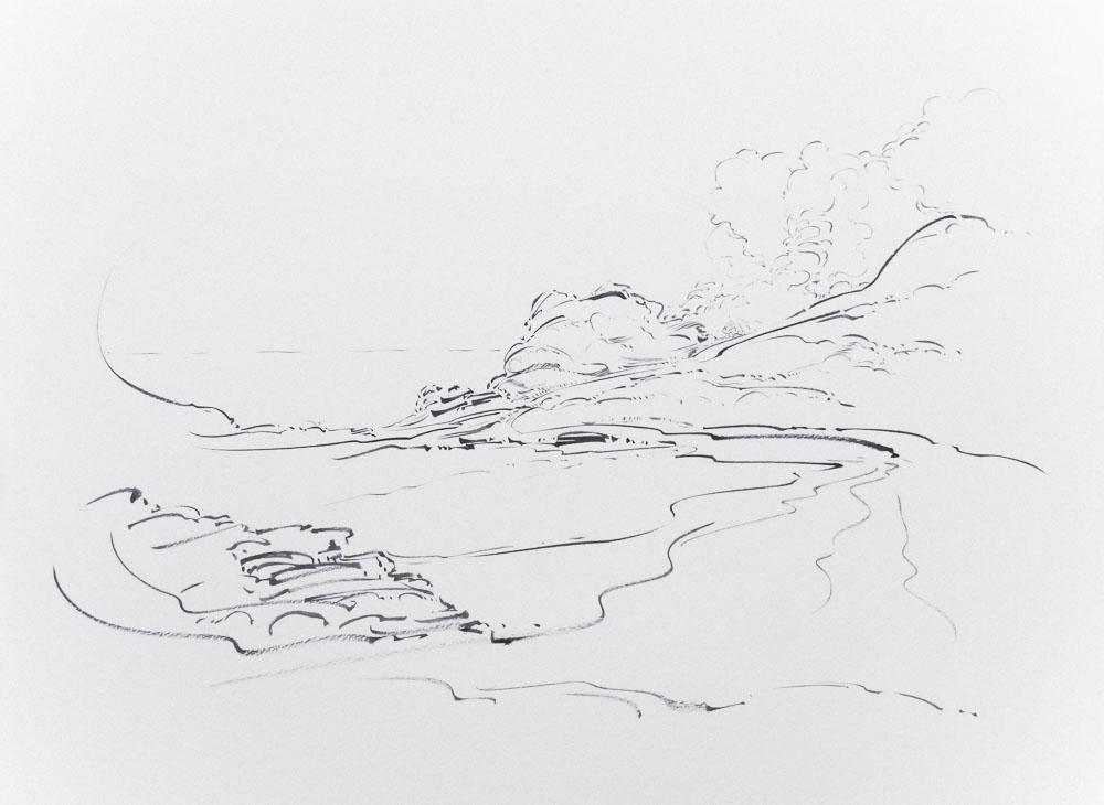 Metalandscape - 13 - Encre indigo sur pa