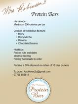 Protein Bar Flyer
