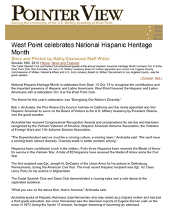 West Point National Heritage Month 1