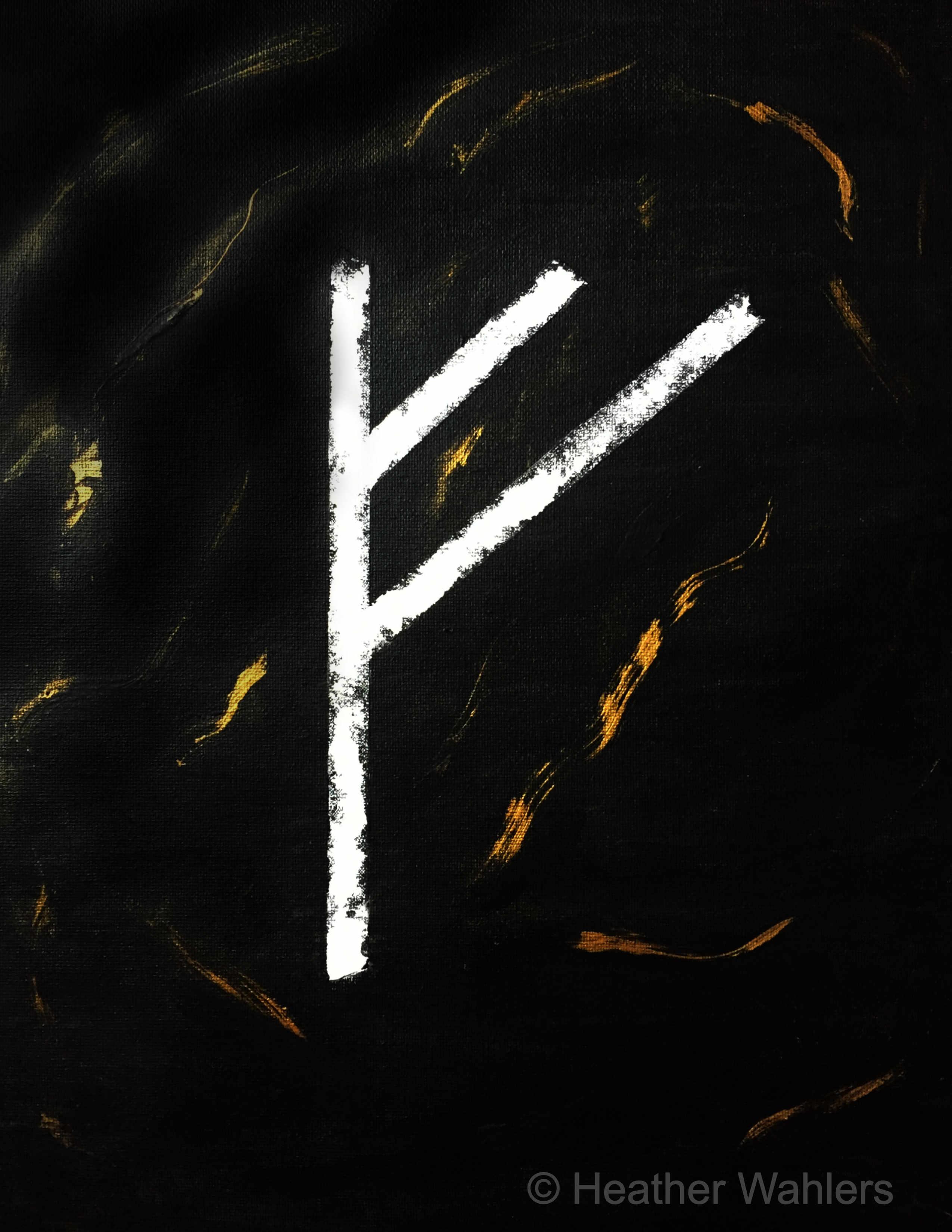 Fehu Rune Painting