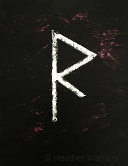 Raidho Rune Painting