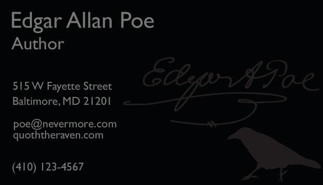 Edgar Allan Poe Design