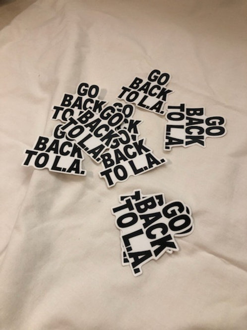15 Pack of Go Back To LA Stickers