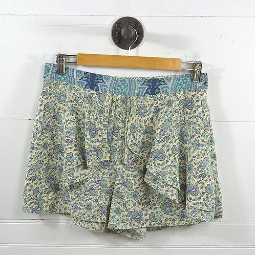 Tibi Silk Print Layered Shorts #185-51