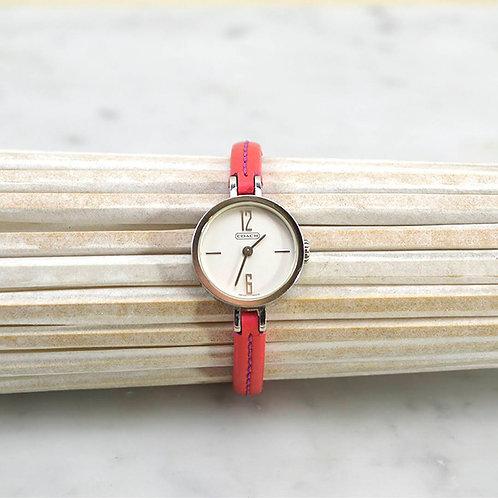 Coach Mini Leather Strap Watch #163-7