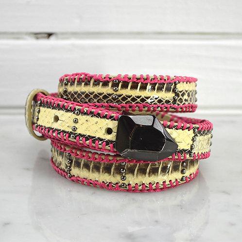 Diane Von Furstenburg Snake Skin Belt #185-8