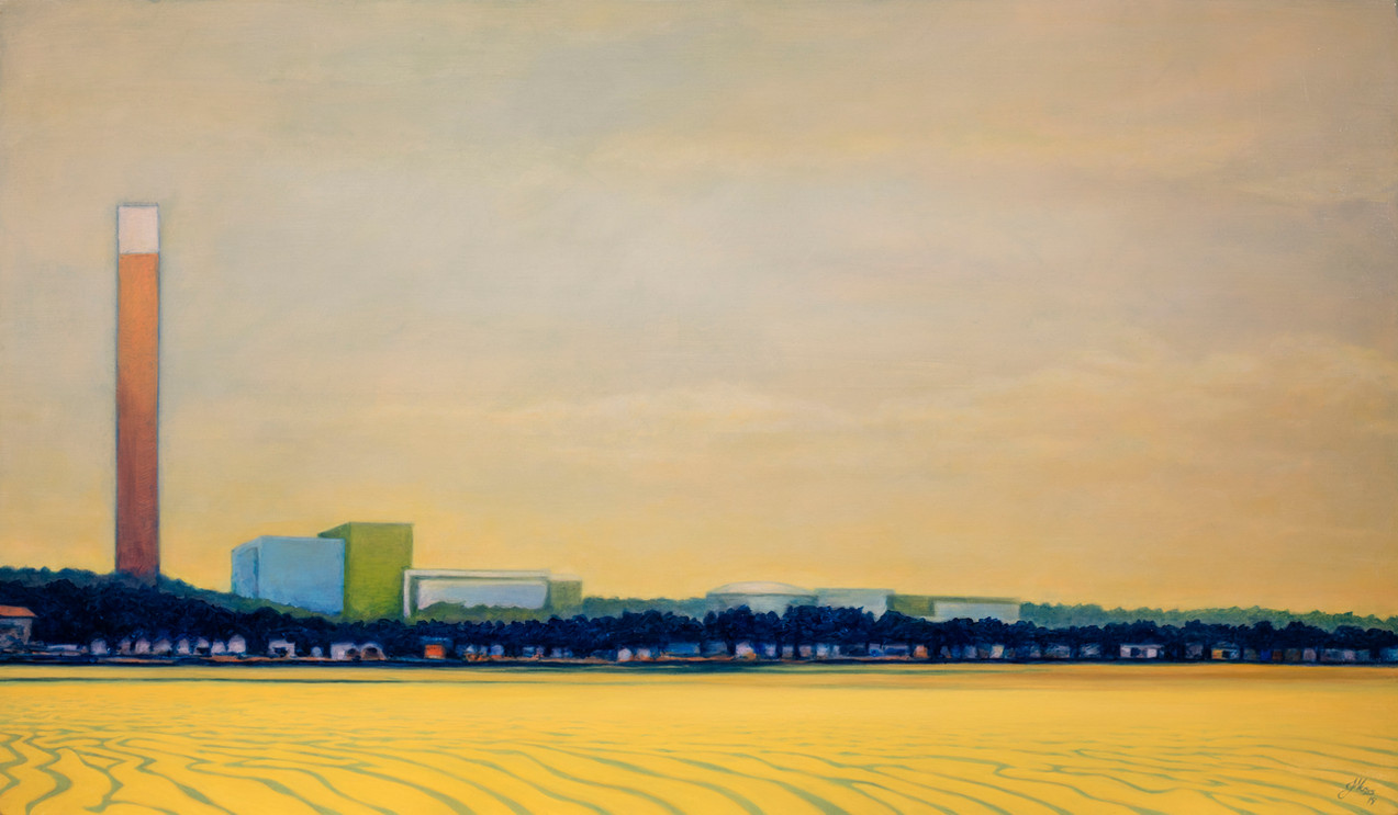 Power Station. Oil on canvas 90x155cm